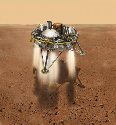 30-NMMNHS-Mars InSight - Artists rendering   Image: Courtesy NASA