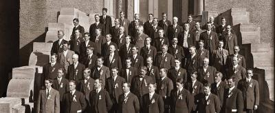 Members of the 1912 Dedication Class at the Scottish Rite Temple