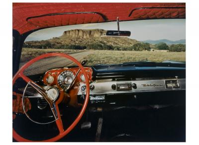 Black Mesa, Looking East From Fred Cata's 1957 Chevrolet Belair, 1987 (printed 1988)