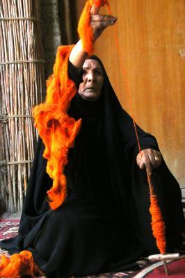 Salmah Abed Damij Spinning Orange