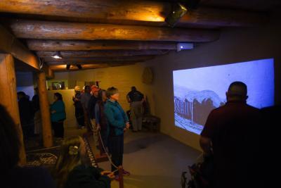 14-Jemez -visitors experience the new exhibit at Jemez Historic Site