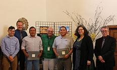 14-Jemez -Jemez Pueblo and New Mexico Historic Sites recieving award in Santa Fe for Dig Giusewa