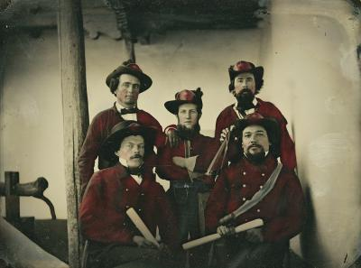 19-NMHM- Members of the Santa Fe Fire Department - Looking Back