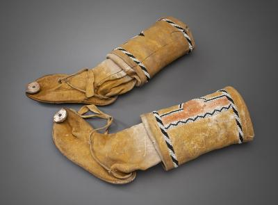 19-NMHM-High top Jicarilla Apache moccasins -Looking Back