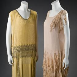 Yellow and Peach Evening Dresses
