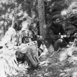 Seton with Three Indians
