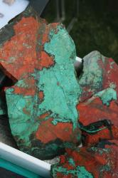 Cuprite and Chrysacolla