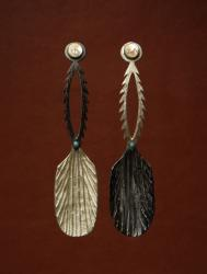 Pair of spoons fashioned after northern California indigenous mush spoons, 2003