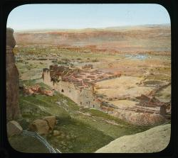 Overview of Pueblo Bonito, Chaco Culture National Historical Park, New Mexico, Date: 1920 – 1930?