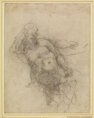 A Nude Seated Figure