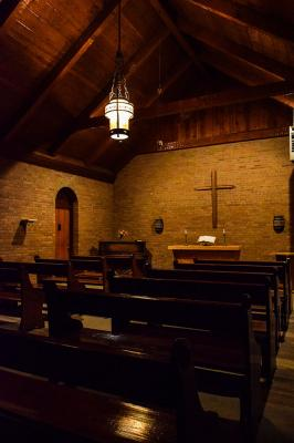 Fort Stanton Hospital chapel interior
