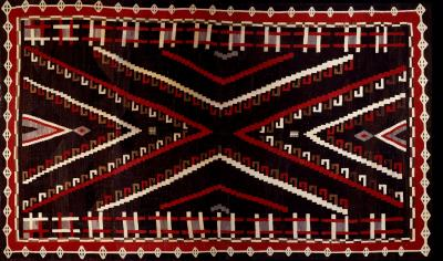 Image: Rug Navajo, ca.1920�s Gift of Earl C. Kauffman 45506/12  Photo courtesy: Museum of Indian Arts and Culture