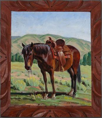 3-MOA-Welsher Donation Ila Macfee Turner, Shorty Horse, 1920s, oil, 10 x 12 inches.