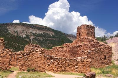 14-Jemez-Ruins at Jemez Historic Site, Jemez Springs