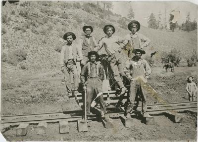 19-NMHM-Railroads-Unidentified group of Railroad workers, NM
