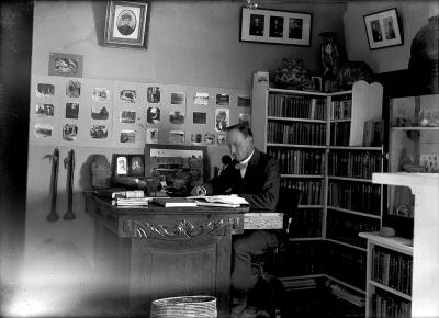 19-NMHM- Edgar Lee Hewett in Palace Office