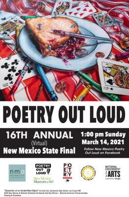 2021 official poster for New Mexico Poetry Out Loud state championship