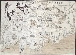 Map of New Galicia, 1550